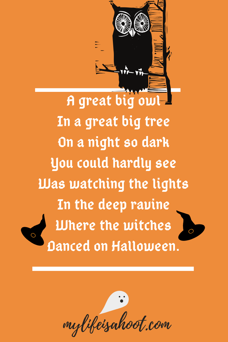 Halloween Poem My Life Is A Hoot